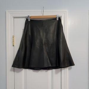 Nanette Lepora Black Leather Skirt
